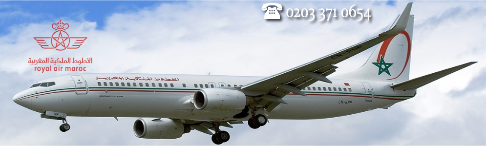 Royal Air Maroc Official Website. Call 0203 371 0654 for reservations.